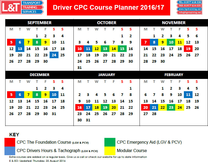 cpc driver certificate hours qualification courses training driving competence professional