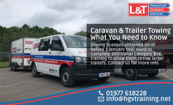 Guide on towing a caravan or trailer